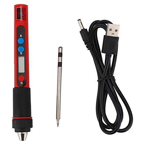 Kit de soldador USB Termostato digital Juego de herramientas eléctricas de mano Temperatura ajustable con manual de usuario y punta de soldador
