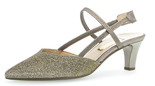 Gabor 21.554 Damen Pumps,Sling-Pumps, Frauen,Slingback Pumps,modisch,Fashion,Platino/Bronce,5 UK