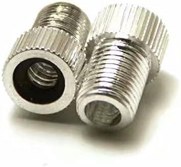 Adanse Lot de 2 adaptateurs de valve Presta vers Schrader en aluminium avec joint torique Bleu