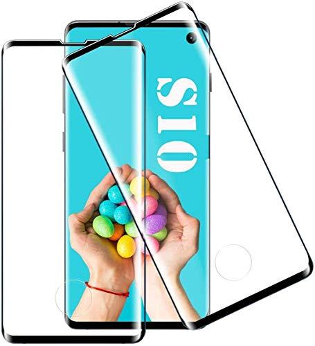 Flysee Pellicola Protettiva in Vetro Temperato per Samsung Galaxy S10, [2 Pezzi] Copertura Completa Pellicola per Samsung S10, Anti-Graffio, Nessuna Bolla,...