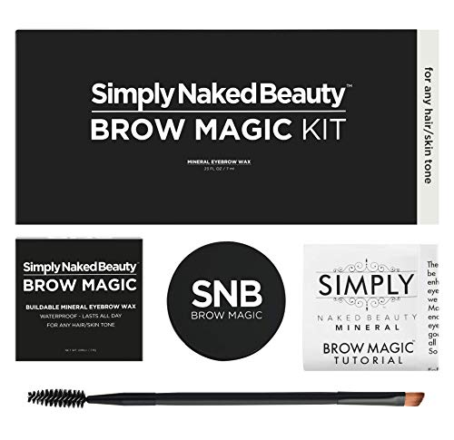 Simply Naked Beauty Eyebrow Color and Shaping Kit with Eyebrow Shaping E-book. Mineral Makeup.