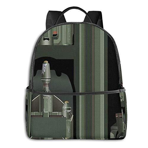 Mochila Mochila de Viaje Sci-Fi Jetpack 14.5 Inch Fashion Black-Edged Backpack,School Bag,Laptop Bags