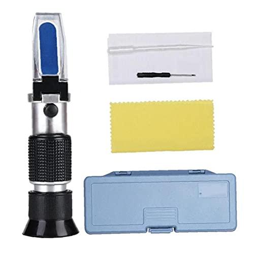 Detector de probador de refrigerante anticongelante de refractómetro para batería de automóvil Ácido Glicol Diesel Líquido de escape, refractómetro