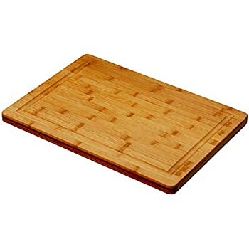 """Simply Bamboo Brown Valencia Bamboo Cutting Board w/Juice Groove 