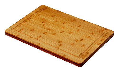 "Simply Bamboo Brown Valencia Bamboo Cutting Board w/Juice Groove | Professional Wooden Chopping Board | Meat Cutting Board & Cheese Block - 20"" x 14"" x 0.75"""