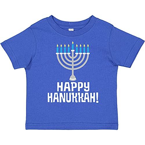 inktastic Happy Hanukkah Menorah Toddler T-Shirt 2T Royal Blue 27a9e
