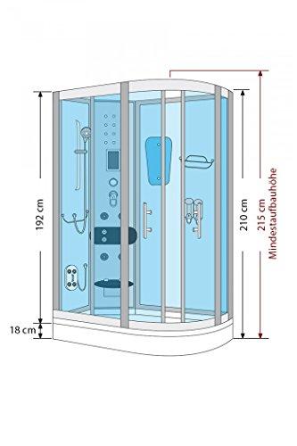 AcquaVapore DTP8060-7000R Dusche Duschtempel Komplett Duschkabine 80×120 - 5