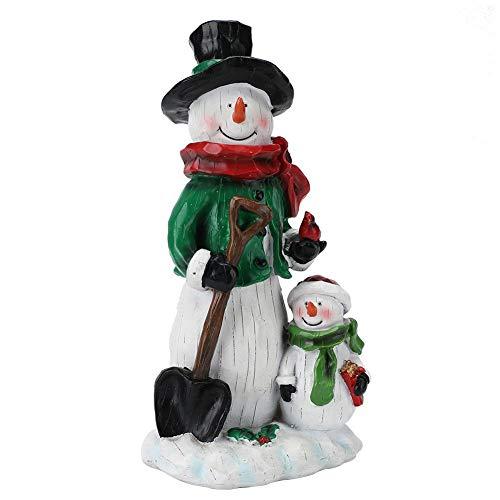 Cafopgrill sneeuwmanversiering, tafelblad kerstversieringen sneeuwman-hars handwerk voor hoofhotelkantoor versieringen