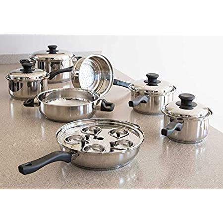 14-Piece Silver GSW Stahlwaren GmbH Stainless Steel Cookware Set