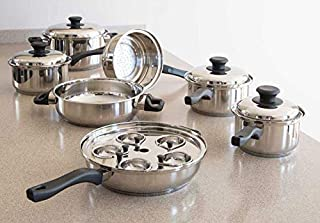 Vapo-Seal 7 Ply T304 17 pc Stainless Steel Cookware Set