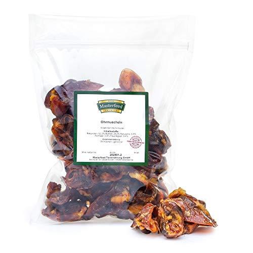 Masterfeed Schweineohrmuscheln für Hunde - Getrocknet - 100% Natürlich Größe 1000 g