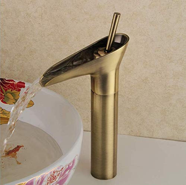 Jukunlun Wasserfall Wasserhahn Bad Goldene Wasserhahn Einhandgriff Vanity Sink Mischbatterie Deck Berg Becken Wasserhahn
