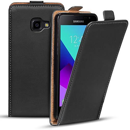 Verco Flip Cover für Samsung Galaxy XCover 4 Case, Flipstyle Schutzhülle für Samsung XCover 4 Hülle Kunstleder Tasche vertikal klappbare Handyhülle, Schwarz
