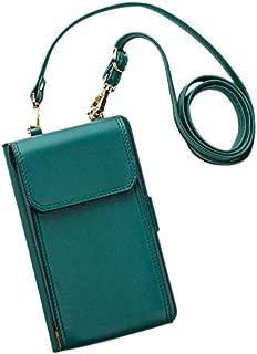 TOOGOO Mobile Phone Messenger Bag Shoulder Ladies Multi-Function Portable Wallet Card Package Green