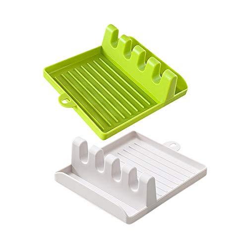 Soporte de utensilios de cocina cuchara de descanso, 1 unidad, accesorio creativo resistente al calor, soporte de herramientas de cocina