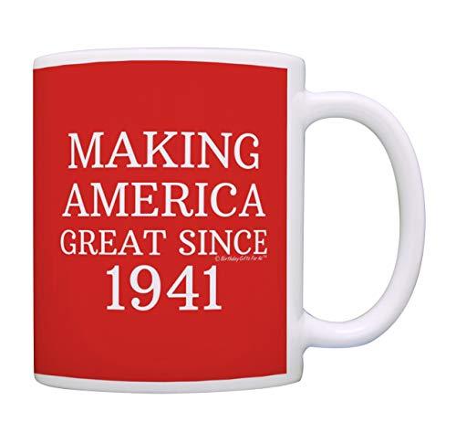 80. Geburtstag Geschenke For All Making America Great Since 1940 Geburtstag Tasse Geburtstag Geschenke Kaffeetasse Teetasse Rot