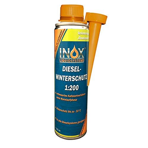 INOX® Diesel Winterschutz 1:200 Additiv, 250ml - Frostschutz Fließverbesserer Dieselzusatz für alle Dieselsysteme