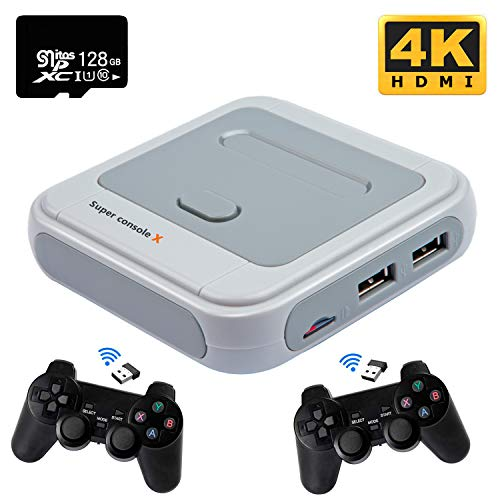 Kinhank Super Console X Video Game Console Built in 41,000+ Games,with 2 Gamepads,Game Consoles for 4K TV Support HD Output, Support 5...