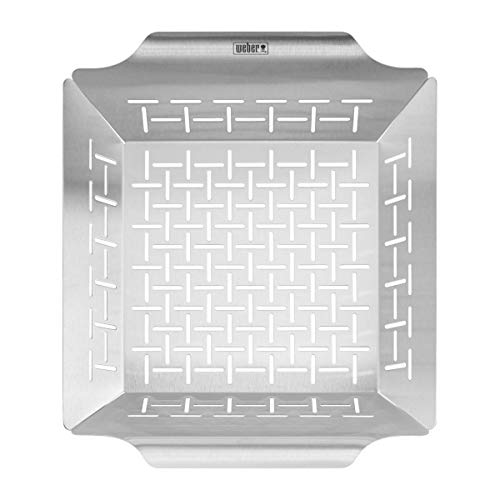 Weber Deluxe Grill Basket, Stainless Steel