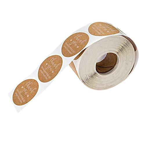 SDENSHI 500 Piezas/Rollo Gracias Etiquetas Adhesivas de Sellado Etiqueta de Decoración