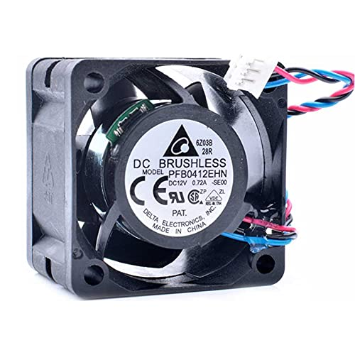SCYHGLM Server Cooler Fan for PFB0412EHN -SE00 12V 0.72A 4cm,PWM Double Ball Fan PFB0412EHN -SE00 40x40x28mm 3Wire