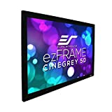 Elite Screens ezFrame CineGrey 5D, 120' Diagonal 16:9, 8K 4K Ultra HD Ready Ceiling Light Rejecting and Ambient Light Rejecting Fixed Frame Projector Screen, CineGrey 5D Projection Material, R120DHD5