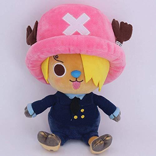 lhtczzb 30Cm One Piece Niedlich Tony Tony Chopper Sanji Muster Gefüllter Plüsch, Spielzeug Hochwertige Cartoon Geburtstag Weihnachten Kinder Geschenk