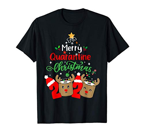 Merry Quarantine Christmas 2020 Pajamas Family Matching Xmas T-Shirt