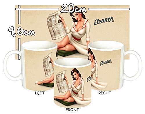 MasTazas Chica Pin Up Girl Sexy Eleanor Tasse Mug
