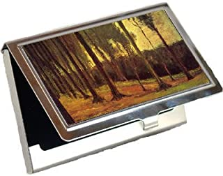 Edge of a Wood By Vincent Van Gogh Business Card Holder