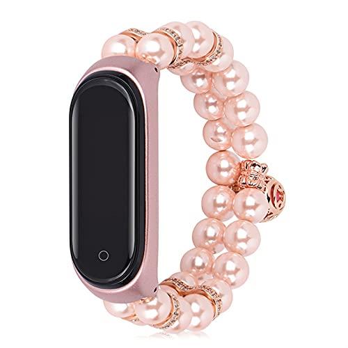 Compatible para la banda de reloj de pulsera inteligente MI,correa de reloj para MI BAND 4/3 Pulsera inteligente,Pulsera de tallas elásticas Simplicity Style (Color : Pink, Size : Mi 3/4)
