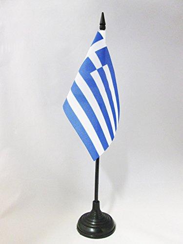 AZ FLAG TISCHFLAGGE GRIECHENLAND 15x10cm - GRIECHISCHE TISCHFAHNE 10 x 15 cm - flaggen