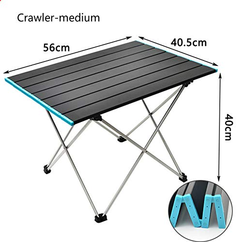 Outdoor Portable Folding Aluminum Alloy Table Picnic Camping Barbecue Table Simple Leisure Aluminum Plate Table Load-bearing Strong Portable Belt (small)