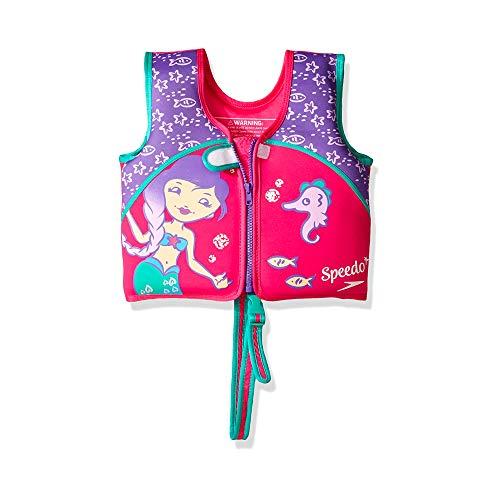 Speedo Unisex-Child Swim Flotation Classic Life Vest Begin to Swim UPF 50 , Purple Printed, Large