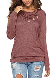 Short Sleeve/ Long Sleeve Designs: 3 decorative buttons, solid color, cute, its loose flowy style. Material: Cotton+ployester, Super soft, stretchy, light weigh and breathable fabric make it chic Occasions: perfect for Summer,Autumn or Spring,easy to...