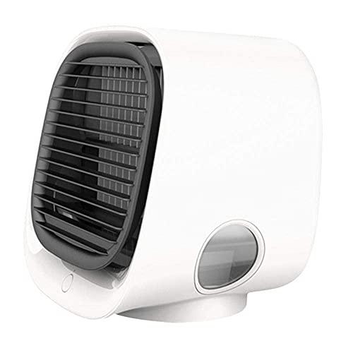 KELITINAus Mini Condizionatore D'Aria Portatile Mini Condizionatore D'Aria 4 in 1 Umidificatore con Ventola Usb a 3 Velocità Ideale per il Lavoro e la Casa-Rosa Wtz012,Bianca