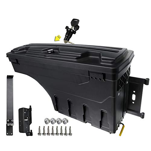 A-Premium Truck Bed Storage Box Case Tool Box Compatible with Dodge Ram 1500 2500 3500 2002-2018 Rear Passenger Side