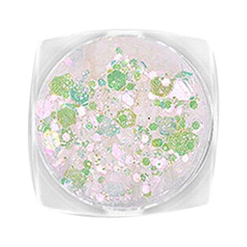 YUYOUG DIY Bricolage Nail Ornement Nail Décoration Couleur Paillettes Maquillage Cadeau d'anniversaire (E)