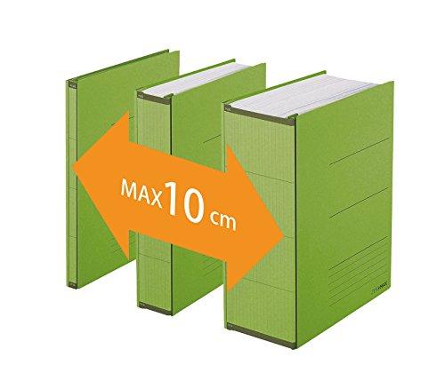 PLUS Japan, Zero Max Platzsparordner in Grün, 1er Pack (1 x 1 Ordner)