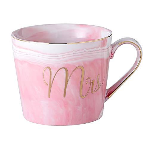 Gif Central Keramik-Kaffeetasse, glänzende Keramik, handgefertigt, tolles Geschenk für Frauen, Geburtstagsgeschenk Sie, Ehefrau, Mutter, Freunde, Schwester, Tochter, Tante, Marmor-Tasse Rosa Frau