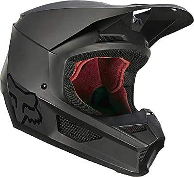 Fox Racing V1 Matte Helmet, Matte Black, Small