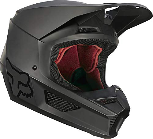 Fox Racing V1 Matte Helmet, Matte Black, Large