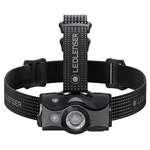 Led Lenser MH7 - Linterna (Linterna con cinta para cabeza, Negro, Gris, Policarbonato, Polimetilmetacrilato (PMMA), IP54, 2 m, 1 lámpara(s))