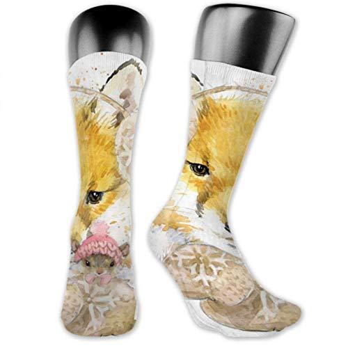 JONINOT 2 paquetes de calcetines deportivos ligeros y cómodos de 40CM, novedad, divertidas y bonitas medias largas medias