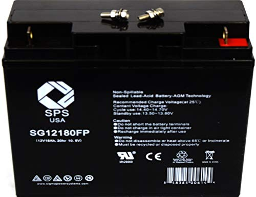 SPS Brand 12V 18Ah Replacement Battery for Motorino XPv 12V 18Ah Scooter Battery