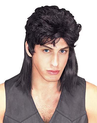 Rubie's Humor Black Mullet Shoulder Length Wig, Black, One Size
