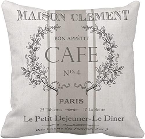 Funda de almohada de grano moderno vintage francés saco decorativo decoración del hogar cuadrado 45,7 x 45,7 cm