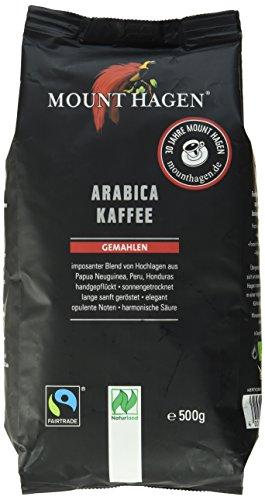 Mount Hagen Bio Arabica Kaffee gemahlen, 500g