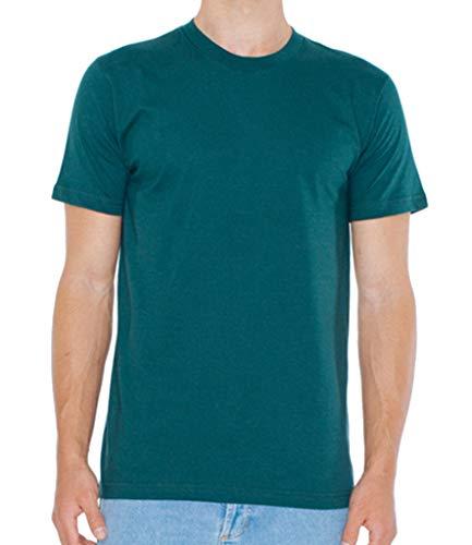 American Apparel T-Shirt, Unisex, kurzärmelig, Baumwolle, einfarbig Gr. XL, wald