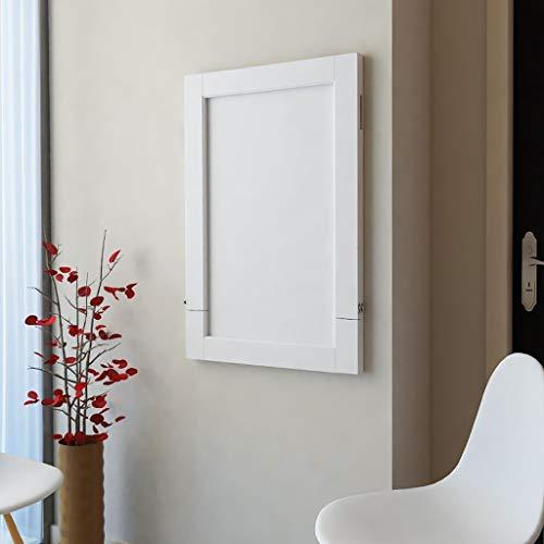 LIU Multifunktionale an der Wand befestigte faltbare Speisetische, weiße Beistelltisch-Ausgangscomputer-Schreibtisch-Arbeitsstationen für kleine Räume 90 * 60cm